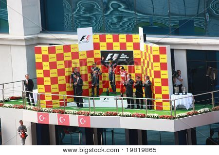 The Winners Of Formula 1 Gp Istanbul 2011