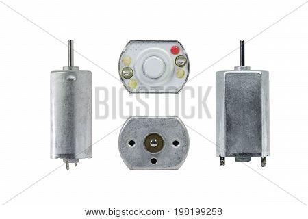 Electronics motor isolated on white background electronics part concept.