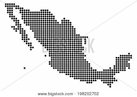 Original abstract point Mexico map of round dots. Vector illustration.