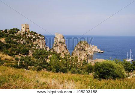 Sicilian coasts at the height of scopello tonnara