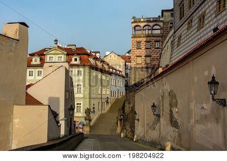 Walls of the ancient Prague Castle, Prague, Czech Republic