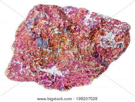 Rough Red Chalcopyrite Stone Isolated