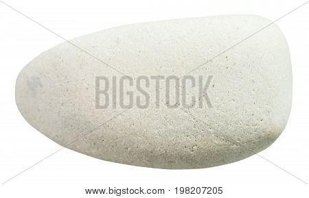 Tumbled Limestone Stone Isolated On White