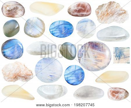 Collection Of Various Moonstone Gemstones