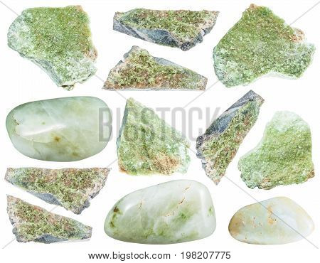 Collection Of Various Vesuvianite Gemstone