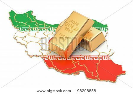 Foreign-exchange reserves of Iran concept 3D rendering isolated on white background