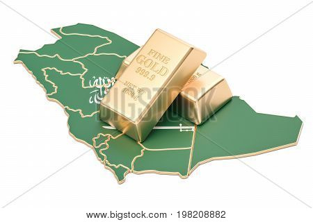 Foreign-exchange reserves of Saudi Arabia concept 3D rendering isolated on white background