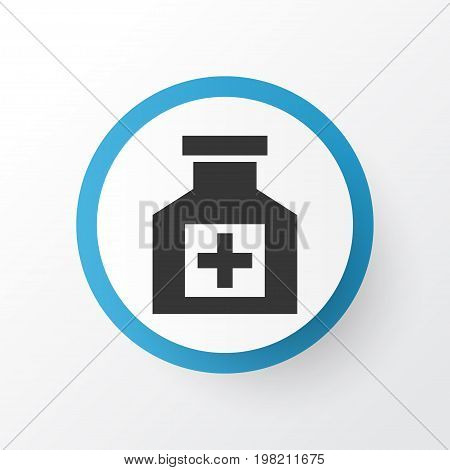 Premium Quality Isolated Painkiller Element In Trendy Style.  Pain Reliever Icon Symbol.