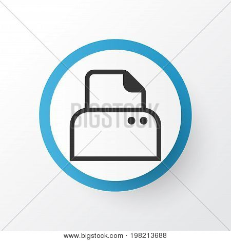 Premium Quality Isolated File Scanner Element In Trendy Style.  Paper Printer Icon Symbol.