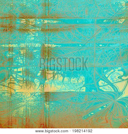 Beautiful retro background, nice looking ancient texture with different color patterns: yellow (beige); brown; blue; red (orange); cyan