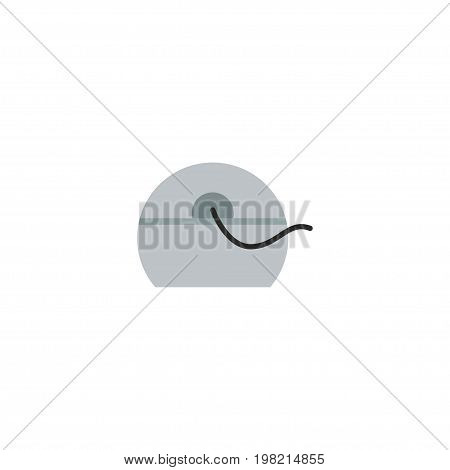 Flat Icon Floss Element. Vector Illustration Of Flat Icon Halitosis Isolated On Clean Background