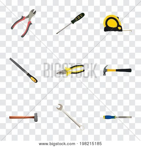 Realistic Forceps, Sharpener, Pliers And Other Vector Elements