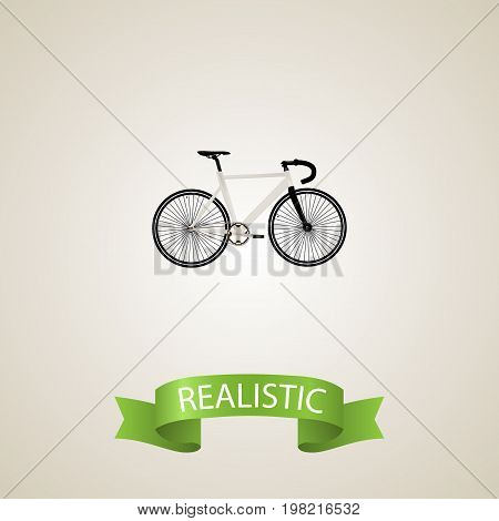 Realistic Track Cycle Element. Vector Illustration Of Realistic Road Velocity Isolated On Clean Background