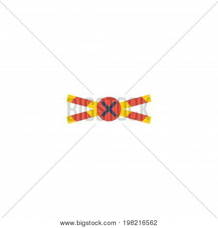 Flat Icon Crime Scene Element. Vector Illustration Of Flat Icon Warning Strip Isolated On Clean Background