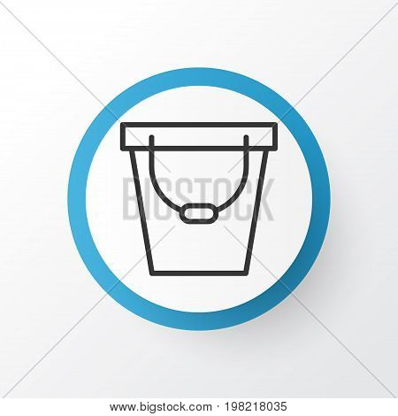 Premium Quality Isolated Pail Element In Trendy Style.  Bucket Icon Symbol.