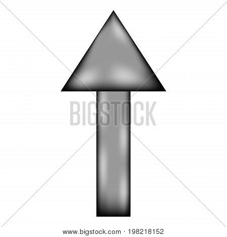 Arrow straight sign icon on white background. Vector illustration.