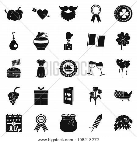 Almanac icons set. Simple set of 25 almanac vector icons for web isolated on white background