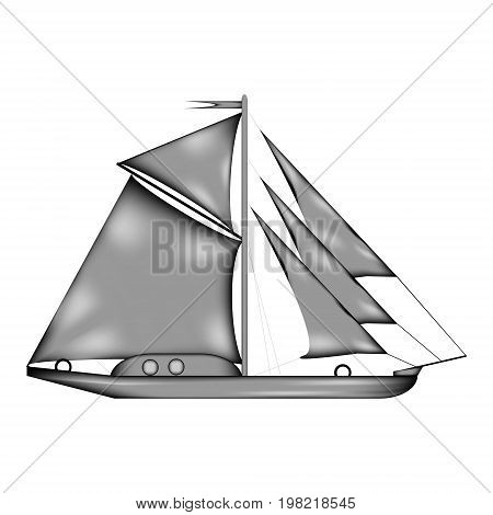 Sailing ship sign icon on white background. Vector illustration.