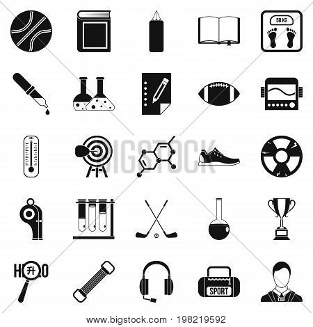 Academy icons set. Simple set of 25 academy vector icons for web isolated on white background