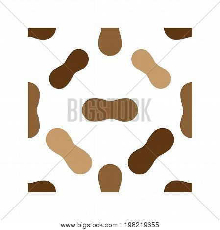 Nuts seamless pattern in flat style. N - nuts. Vector illustration for print fabric and creative design