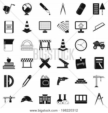 Compass icons set. Simple style of 36 compass vector icons for web isolated on white background