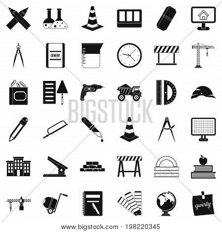 Equipment icons set. Simple style of 36 equipment vector icons for web isolated on white background