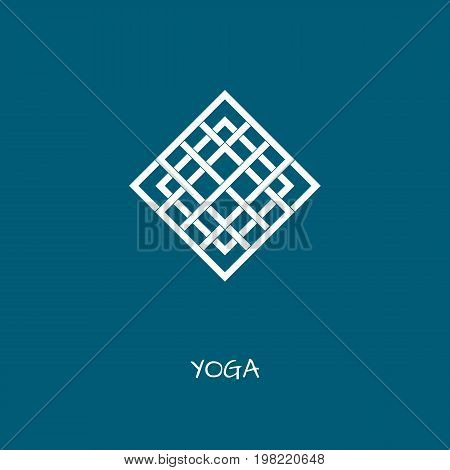 Unusual logo in simple arabic style for yoga studio holistic center and alternative medicine