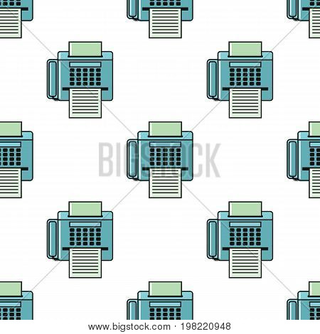 Fax seamless pattern in cartoon style isolated on white background vector illustration for web