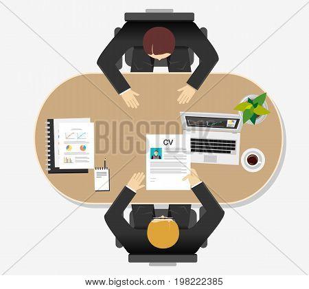 Job interview concept illustration. Career development concept. Curriculum vitae. Vacancy