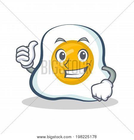 Proud fried egg character cartoon vector illustration