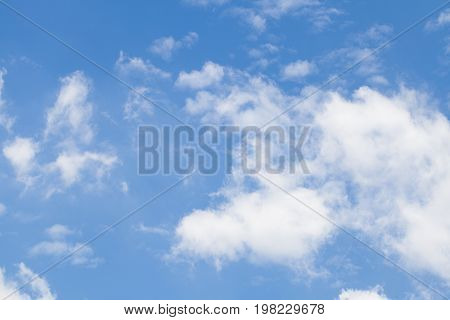 blue sky with cloud concept of hope new start Fresh