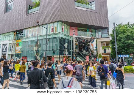 TOKYO JAPAN - July 26 2017 : Omotesando Tokyu Plaza in Harajuku district Tokyo Japan. one of the centers of fashion and culture in Japan
