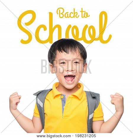 Back to School. Kids posing for back to school theme over white background