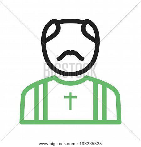 Priest, catholic, church icon vector image. Can also be used for funeral. Suitable for use on web apps, mobile apps and print media.