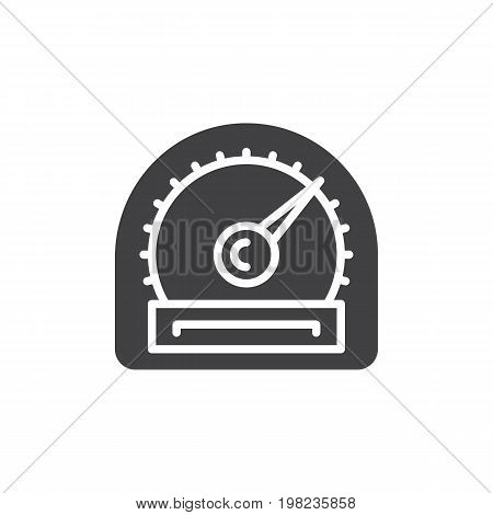 Speedometer gauge icon vector, filled flat sign, solid pictogram isolated on white. Symbol, logo illustration. Pixel perfect vector graphics