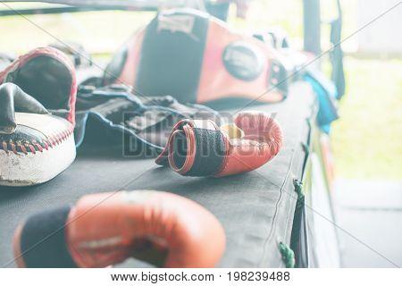 Thai Boxing Mitt Punch Pad Glove Training On Camp