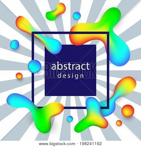 Creative Abstract Vector Background With Fluid Colorful Shapes. Poster, Banner, Greeting Card Template.