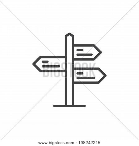 Signpost pointer line icon, outline vector sign, linear style pictogram isolated on white. Symbol, logo illustration. Editable stroke. Pixel perfect vector graphics