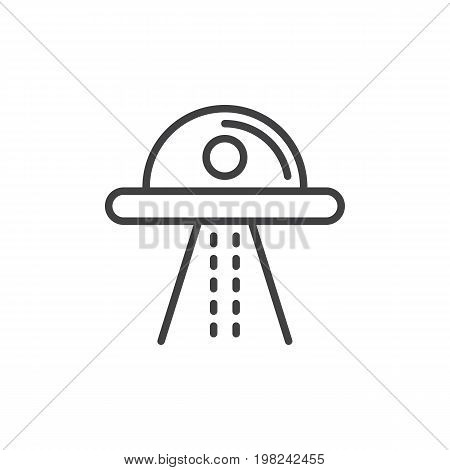 Ufo line icon, outline vector sign, linear style pictogram isolated on white. Symbol, logo illustration. Editable stroke. Pixel perfect vector graphics