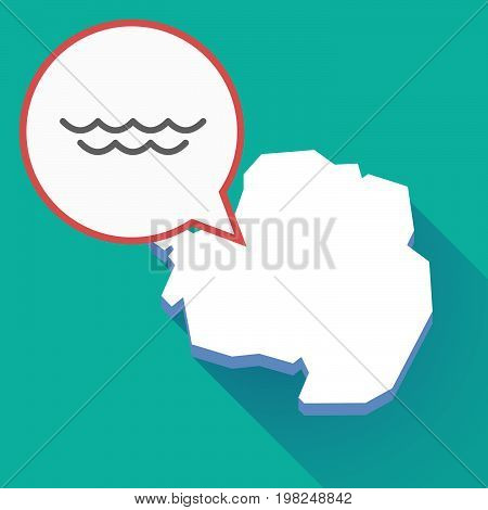 Long Shadow Antarctica Map With A Water Sign