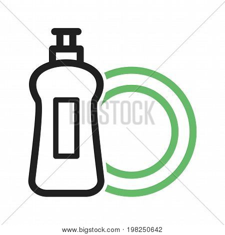 Dish, soap, washing icon vector image. Can also be used for Cleaning Services. Suitable for use on web apps, mobile apps and print media.