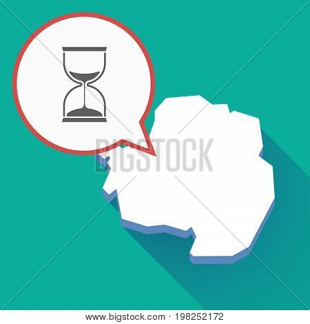 Long Shadow Antarctica Map With A Sand Clock
