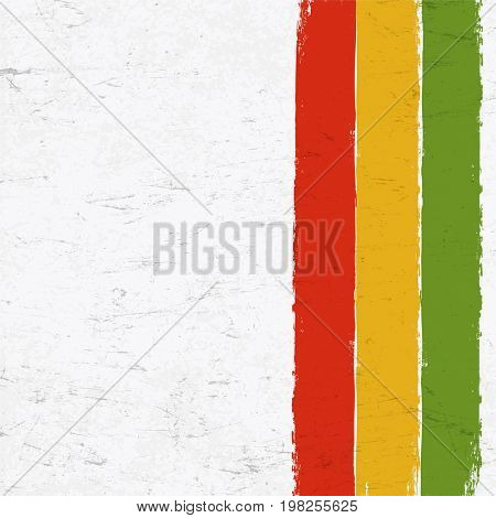 Rasta colors grunge background. Abstract template use for Rastafarian thematic layouts.
