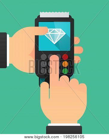 Long Shadow Dataphone With A Diamond