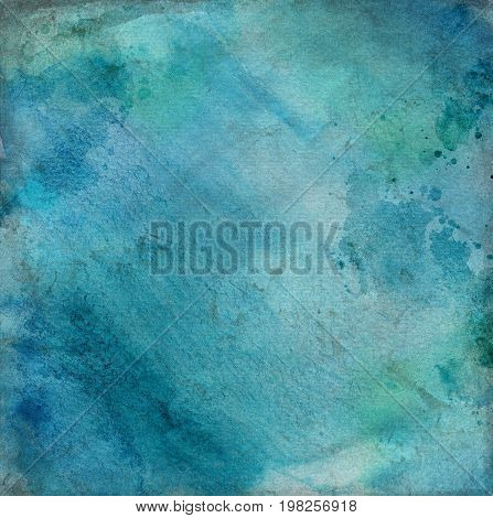 Art texture square background. Abstract grunge decorative navy blue dark stucco wall.