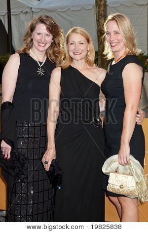 NEW YORK - SEPTEMBER 21: Actress Patricia Clarkson with guests attends the Metropolitan Opera season opening with a performance of 'Tosca' at the Lincoln Center  on September 21,2009 in New York City.