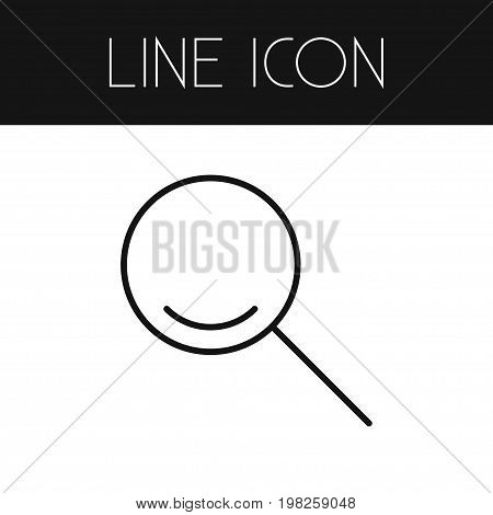 Magnifier Vector Element Can Be Used For Search, Magnifier, Instrument Design Concept.  Isolated Search Outline.