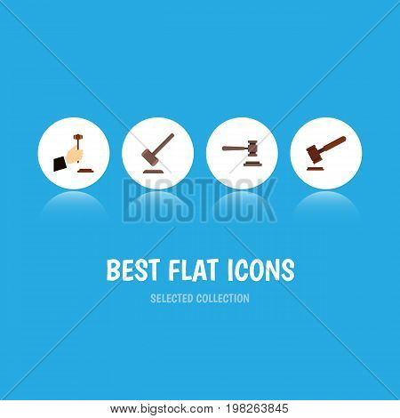 Flat Icon Lawyer Set Of Legal, Tribunal, Justice And Other Vector Objects