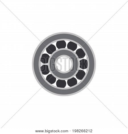 Brake Disk Vector Element Can Be Used For Ball, Bearing, Disk Design Concept.  Isolated Ball Bearing Flat Icon.