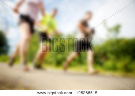 Photos from below running athletes